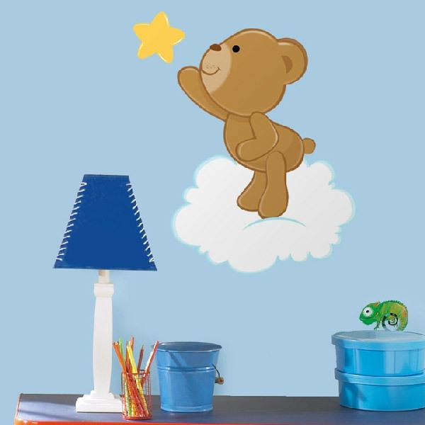 Stickers for Kids: Little bear catching a star
