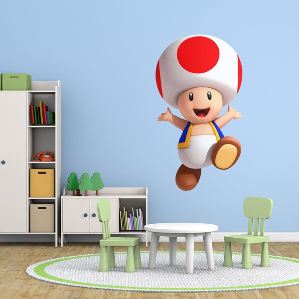Stickers for Kids: Toad Mario Bros