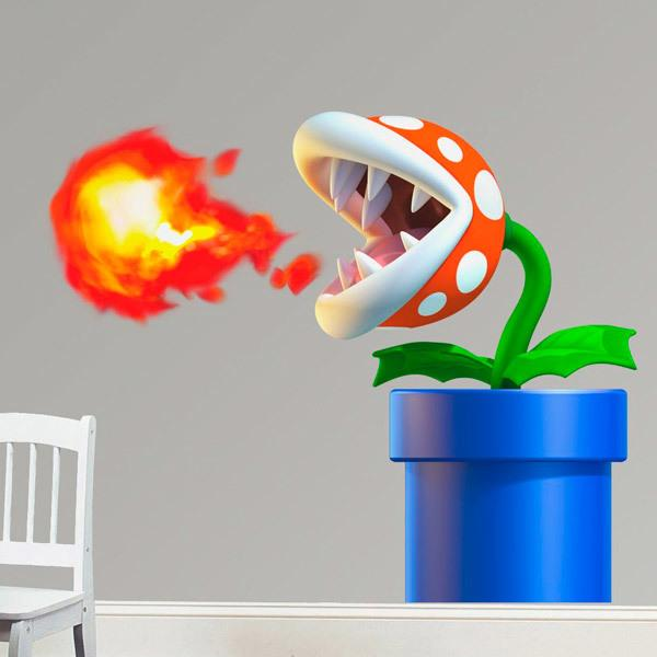 Stickers for Kids: Piranha Plant of Mario Bros