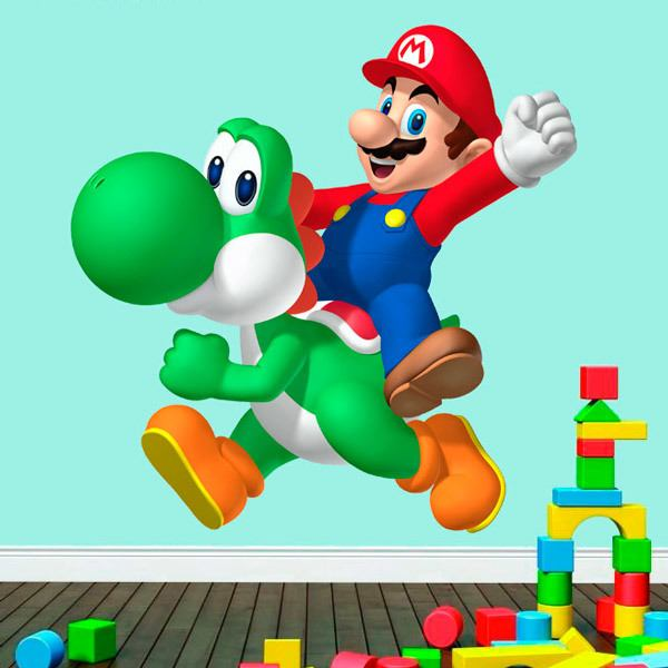 Stickers for Kids: Mario and Yoshi