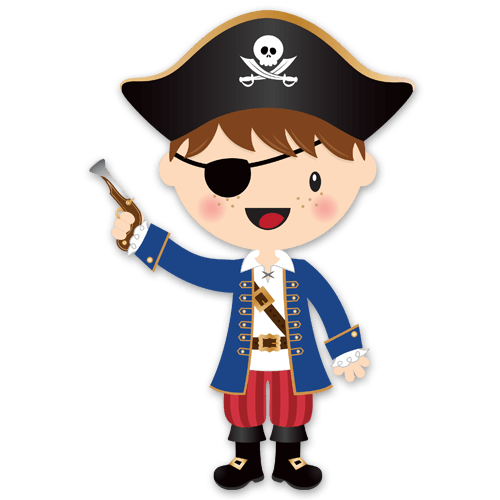 Stickers For Kids The Little Pirate Gun