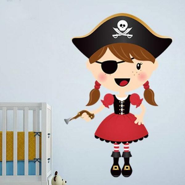 Stickers for Kids: The small pirate gun