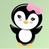 Stickers for Kids: Penguin greeting 3
