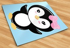 Stickers for Kids: Penguin greeting 5
