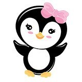 Stickers for Kids: Penguin greeting 6
