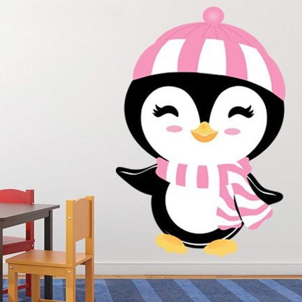 Stickers for kids penguin winter hat