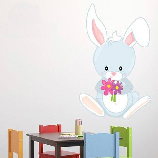 Stickers for Kids: rabbit forest