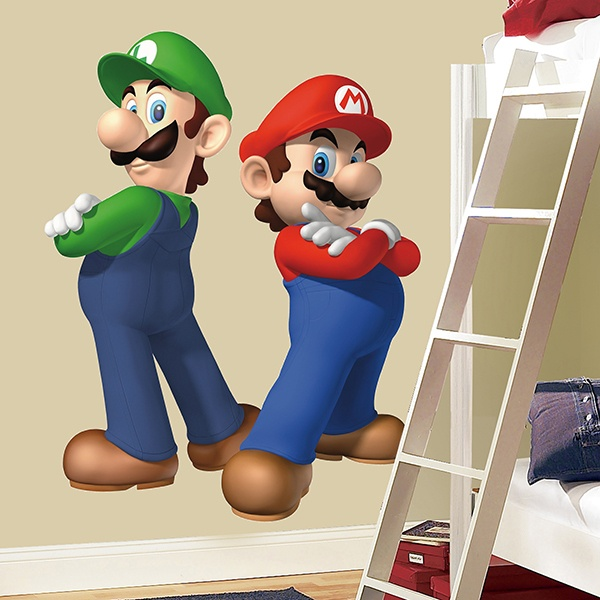 Stickers for Kids: Super Mario and Luigi