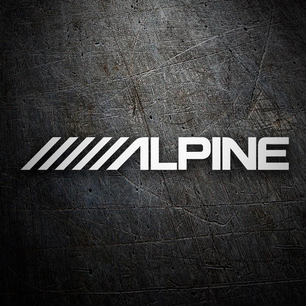 Car & Motorbike Stickers: Alpine