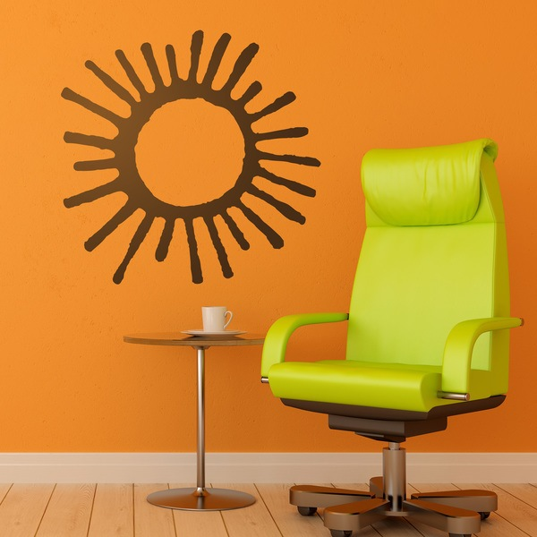 Wall Stickers: Cuneiform sun