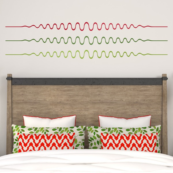 Wall Stickers: ornament wavy