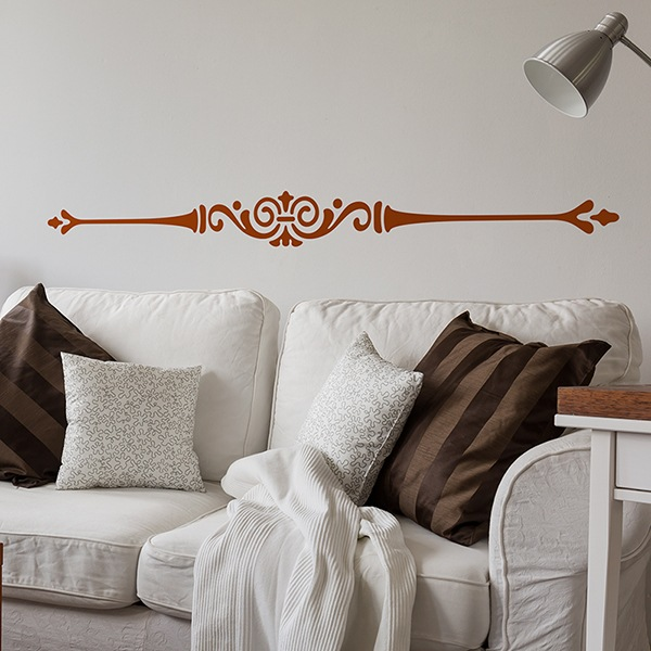 Wall Stickers: ornamental horizontal line