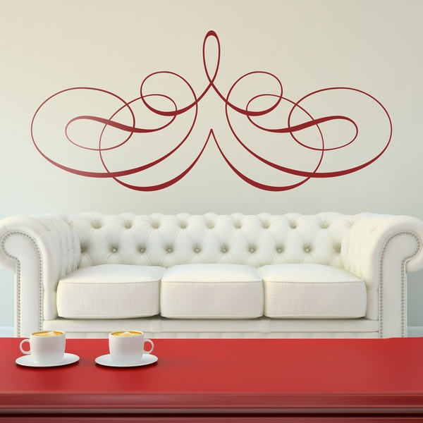 Wall Stickers: victorian symmetric filigree