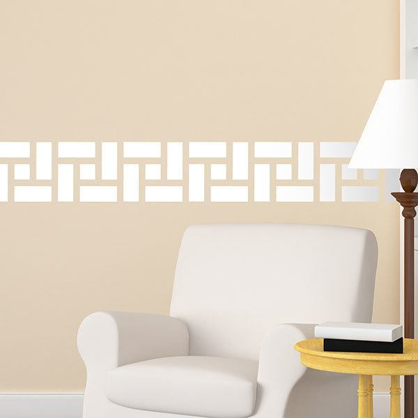 Wall Stickers: Wall Border Greek Rectangles