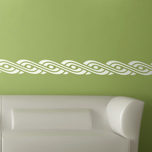 Wall Stickers: Self adhesive borders Oval spiral