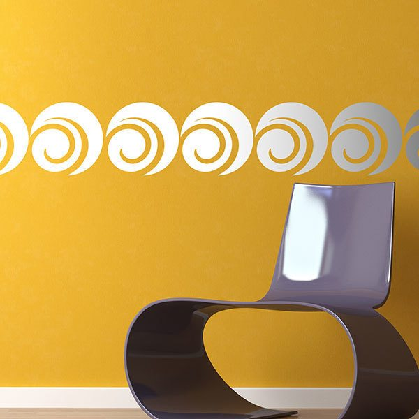 Wall Stickers: Self adhesive borders Circles