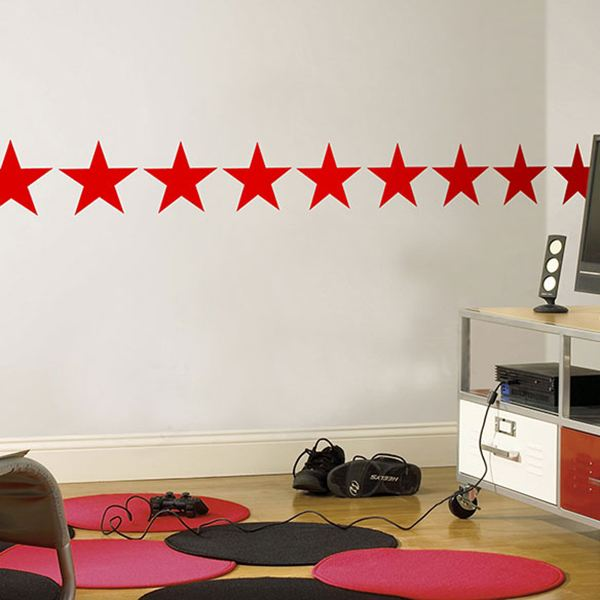 Wall Stickers: Self borders wall stickers Stars
