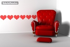 Wall Stickers: Wall Border Hearts 2