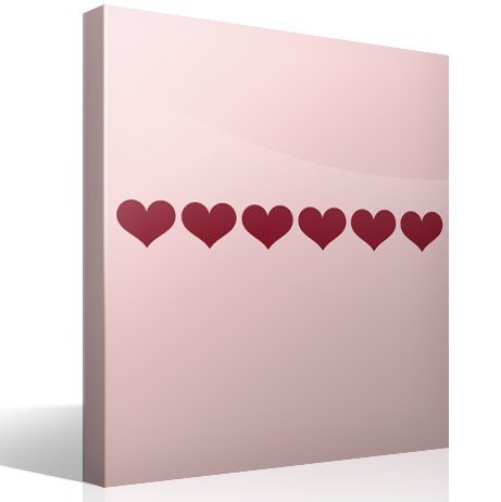 Wall Stickers: Wall Border Hearts