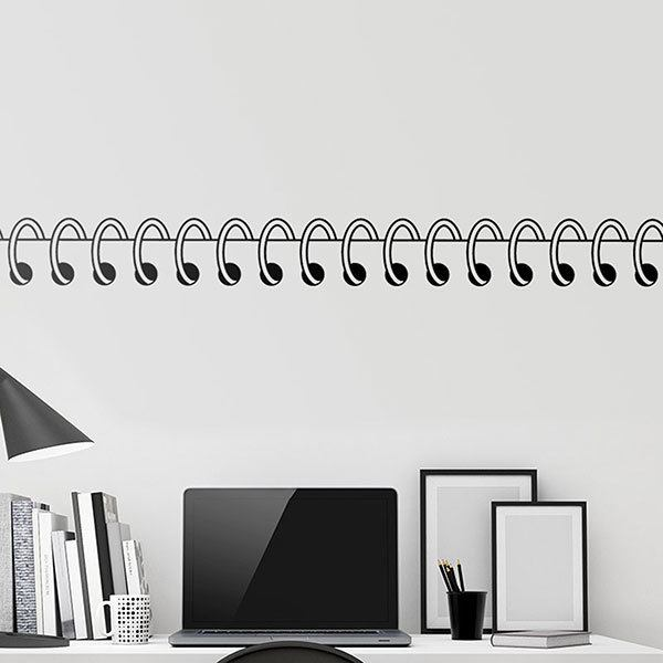 Wall Stickers: Wall border spiral notebook