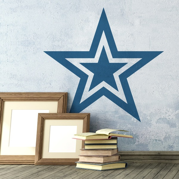 Wall Stickers: 5 pointed star and rimmed