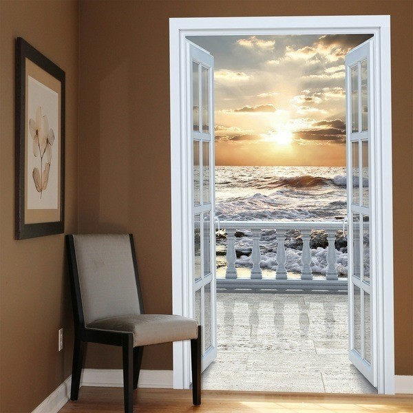 Wall Stickers: Door to balcony on the beach