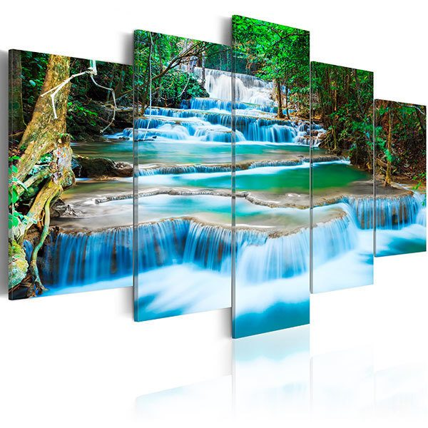 Other products: Blue waterfall in Kanchanaburi, Thailand