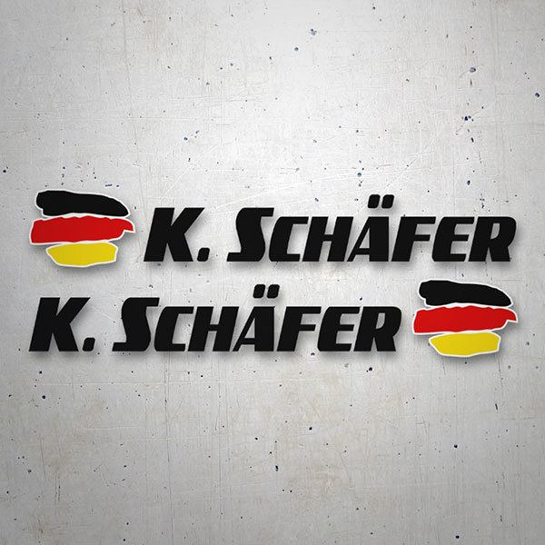 Car & Motorbike Stickers: 2 Flags Germany + Black sport name