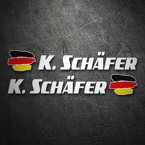 Car & Motorbike Stickers: 2X Flags Germany + white sport name