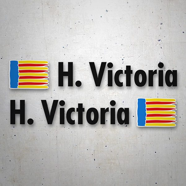 Car & Motorbike Stickers: 2 Flags Valencia + Name in black