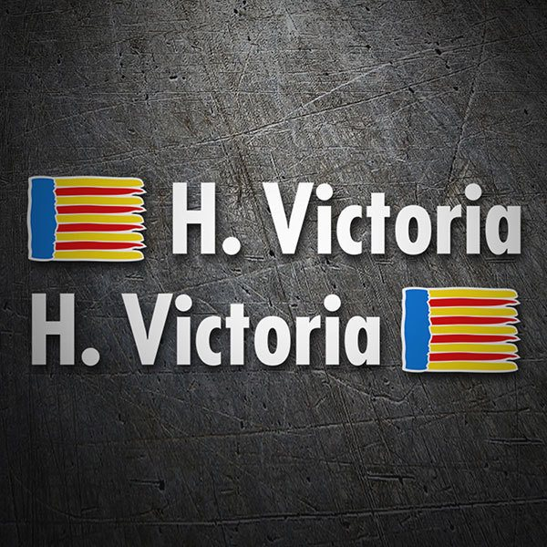 Car & Motorbike Stickers: 2X Flags Valencia + Name in white
