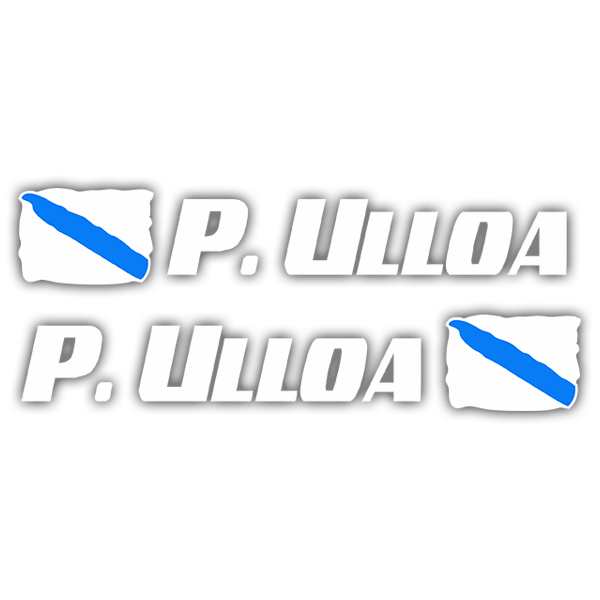 Car & Motorbike Stickers: 2 Flags Galicia + Name sport white
