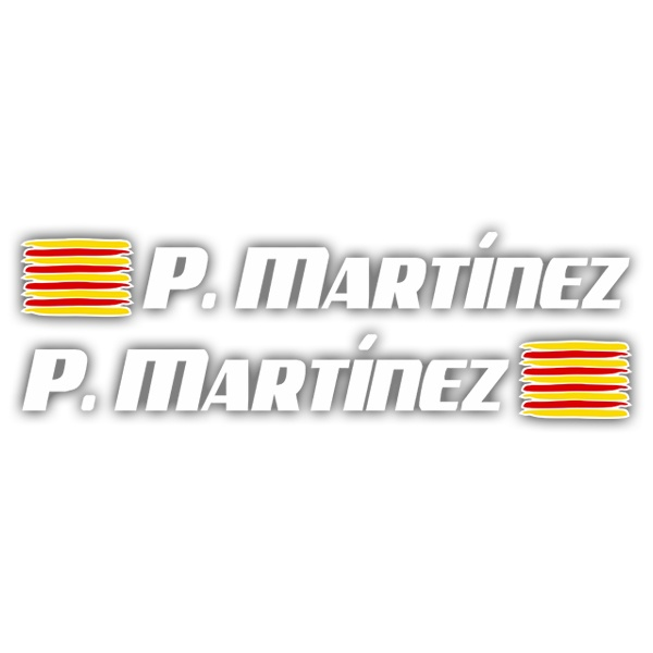 Car & Motorbike Stickers: 2 Flags Catalonia + Name sport white