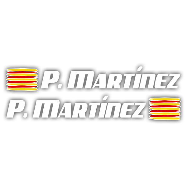 Car & Motorbike Stickers: 2X Flags Catalonia + Name sport white