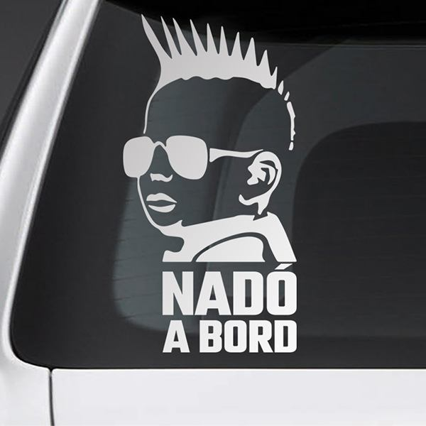 Car & Motorbike Stickers: Baby on board punk - catalan