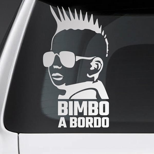 Car & Motorbike Stickers: Baby on board punk - Italian