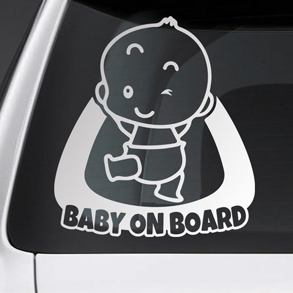 Car & Motorbike Stickers: Baby on board naughty