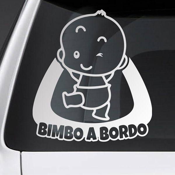 Car & Motorbike Stickers: Baby on board naughty - Italian