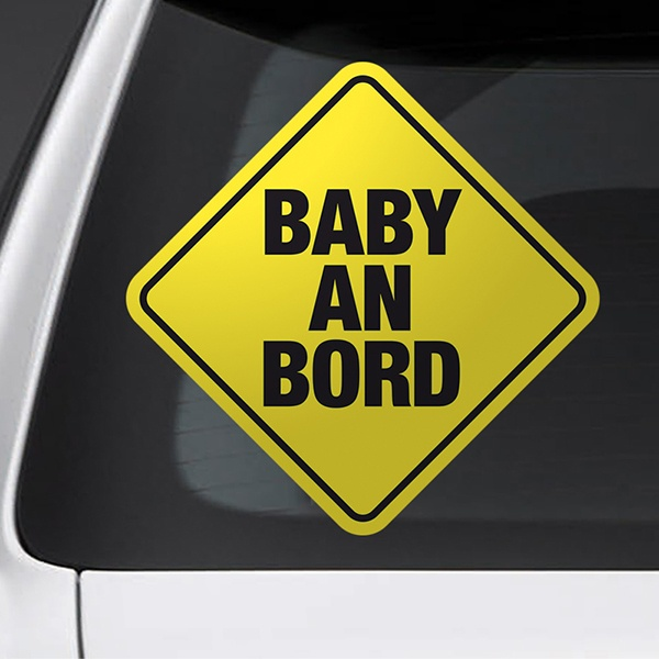 Car & Motorbike Stickers: Sign baby on board - German