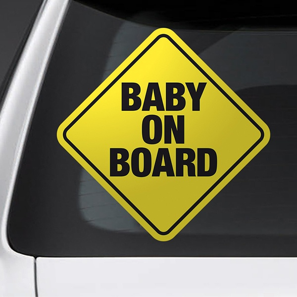 Car & Motorbike Stickers: Sign baby on board