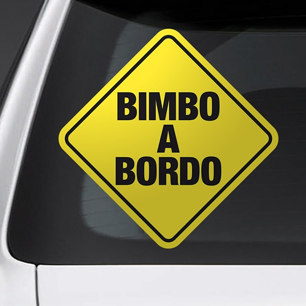 Car & Motorbike Stickers: Sign baby on board - Italian