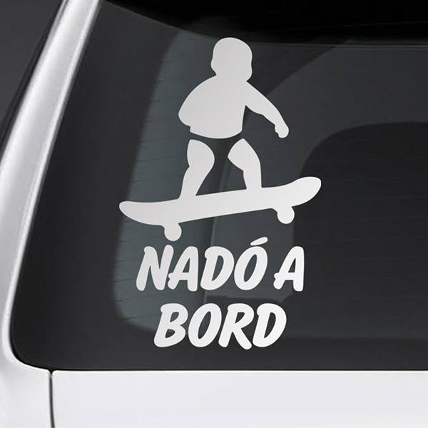 Car & Motorbike Stickers: Baby on board skate - Catalan
