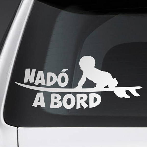 Car & Motorbike Stickers: Baby on board surf - Catalan