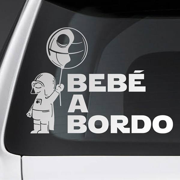 Car & Motorbike Stickers: Baby Darth Vader on board - Spanish