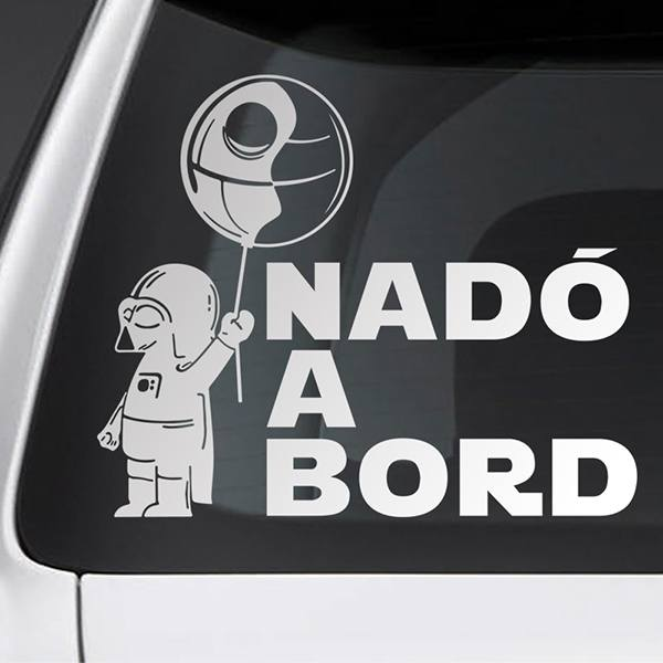 Car & Motorbike Stickers: Baby Darth Vader on board - Catalan