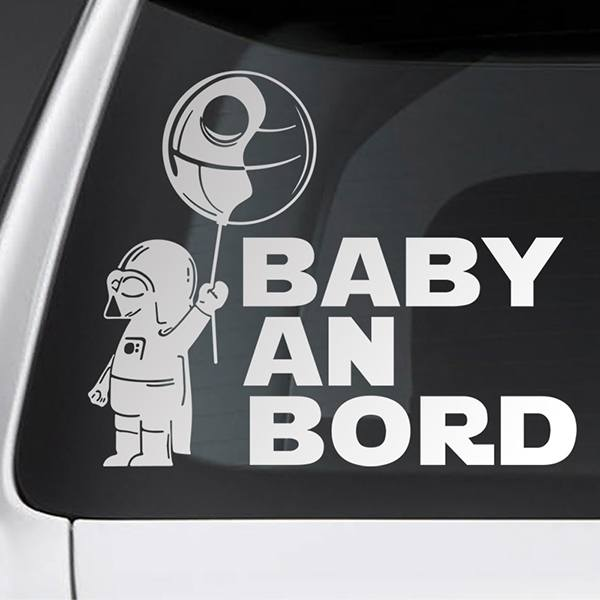 Car & Motorbike Stickers: Baby Darth Vader on board - German