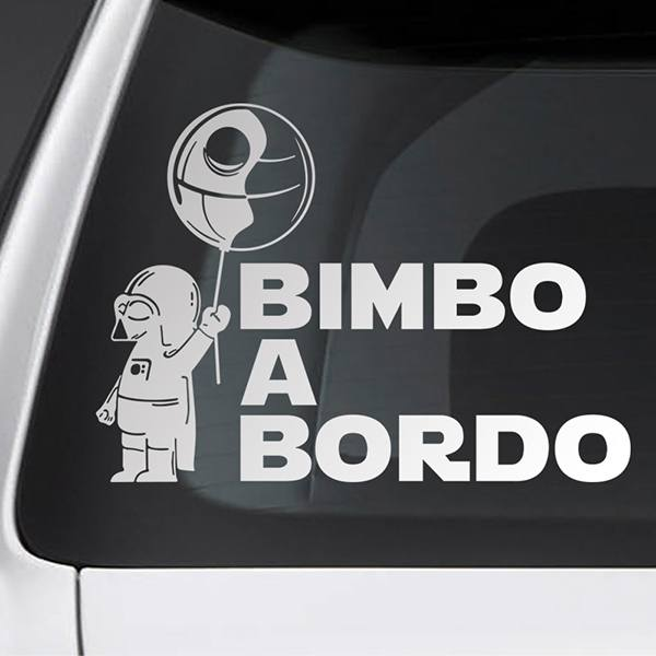 Car & Motorbike Stickers: Baby Darth Vader on board - Italian
