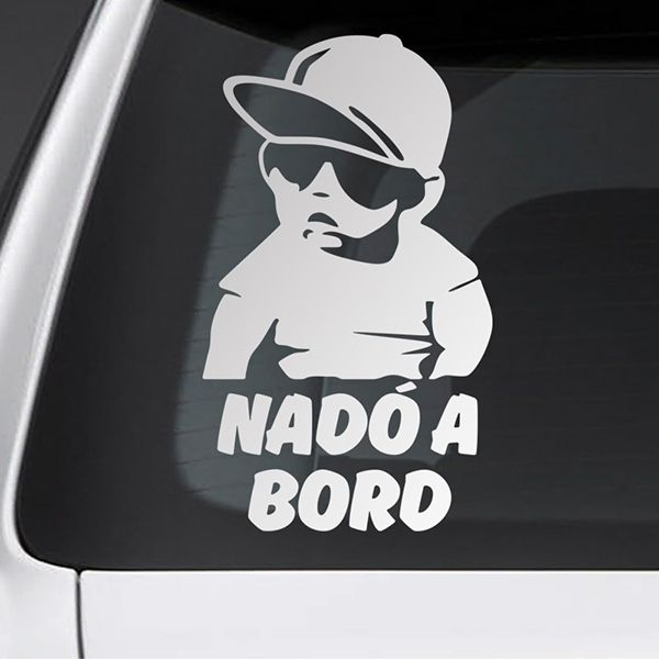 Car & Motorbike Stickers: Baby on board cool - Catalan