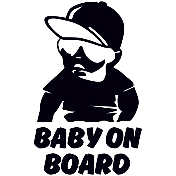 Car & Motorbike Stickers: Baby on board cool