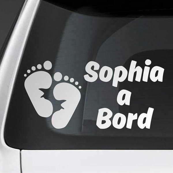 Car & Motorbike Stickers: Baby on board custom - Catalan